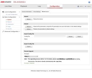 Hikvision-webui-Basic-Configuration-Maintenance