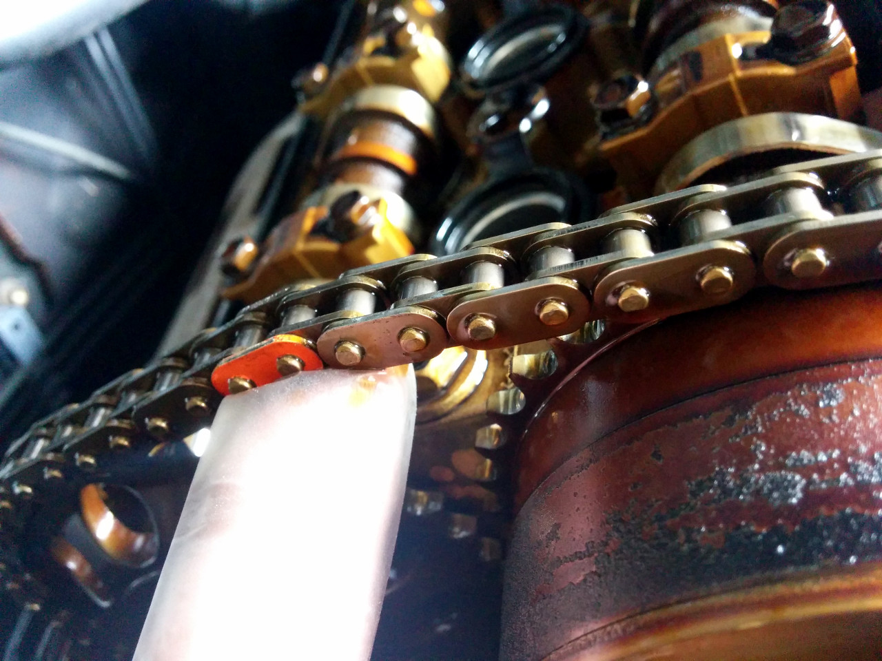 Replacing timing chain tensioner on a 1NZFE – Sergei's Stuff