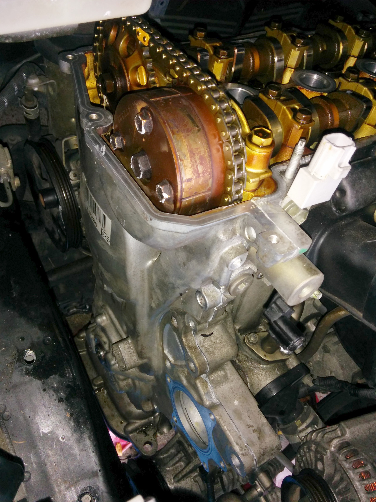Replacing timing chain tensioner on a 1NZFE – Sergei's Stuff and Things