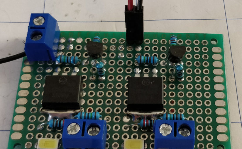 High Side Power Switch for a microcontroller